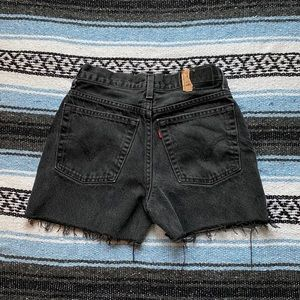 Levi's Vintage 90s Mom Shorts Black Washed
